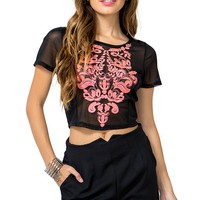 Deco Embroidered Tee