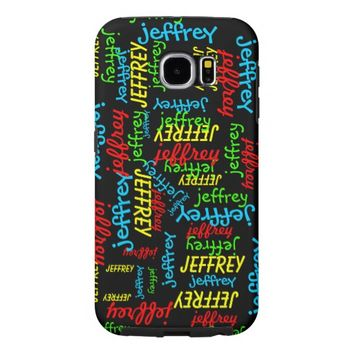 Samsung Galaxy S6 Case, Repeating Names, Tough Samsung Galaxy S6 Case
