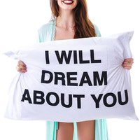 Jac Vanek Dream About You Pillowcase Set White One