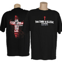 The Voice of the Martyrs - Black Illegal T-Shirt (L)