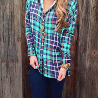 Khloe Plaid Blouse - FINAL SALE