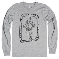 Trash Goes Out-Unisex Heather Grey T-Shirt