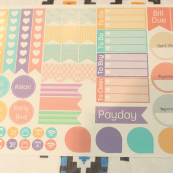 Happy easter themed 'extras' sheet | Happy planer (MAMBI) planner stickers