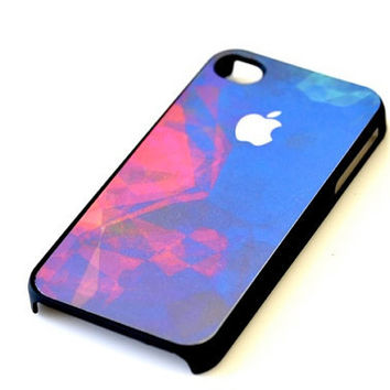 Abstract Watercolor iPhone Case - Red Blue Green