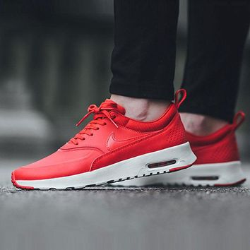 nike air max thea red pink casual sports shoes-1