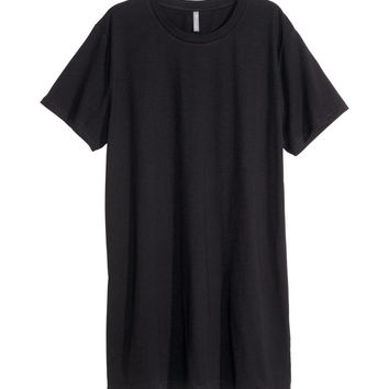 H&M - Long T-shirt - Black - Men