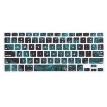 "Dark Turquoise Blue Feather Theme Keyboard Cover Decal Skin for Apple Macbook Macbook Pro iMac Keyboard  13"" 15"" 17"""