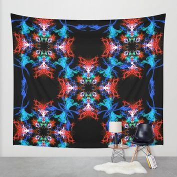 Colorful Abstract Cross Wall Tapestry by Haroulita | Society6