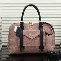 Coach Women Fashion Leather Handbag Satchel Shoulder Bag Crossbody