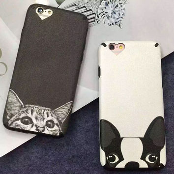 Cat Dog Cover Case for iPhone 5s 7 se 6 6s Plus + Gift Box-339