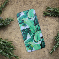 BANANA LEAF Hard Tropical iPhone Case