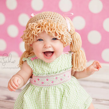 Recognized brands d65c9 699db cabbage patch hat wig hair.