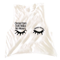 Closed Eyes tee