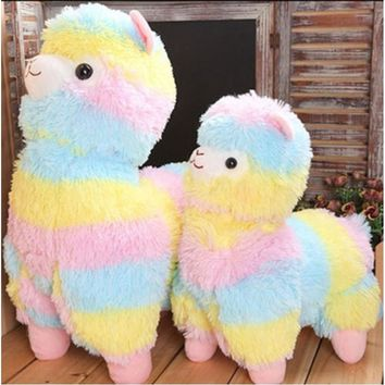Super Cute Alpacasso Arpakasso Amuse Rainbow Stripe Alpaca Stuffed Plush Doll Toys