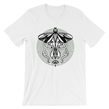 Luna Moth And Snakes Unisex T-Shirt