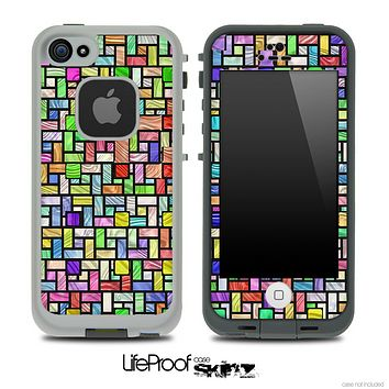 Colorful Tiled Pattern Skin for the iPhone 5 or 4/4s LifeProof Case