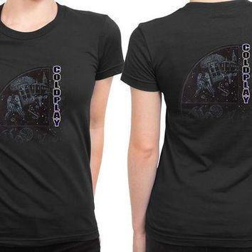 VONEED6 Coldplay Star One 2 Sided Womens T Shirt