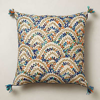 Beaded Scallop Pillow