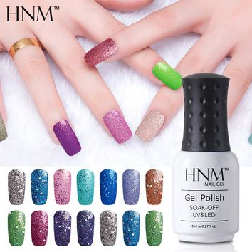 HNM 8ML Color Nail Gel Polish 194 Color UV LED GelLak Soak Off lucky Gelpolish Semi Permanent Polish Hybrid Esmaltes Gel Varnish
