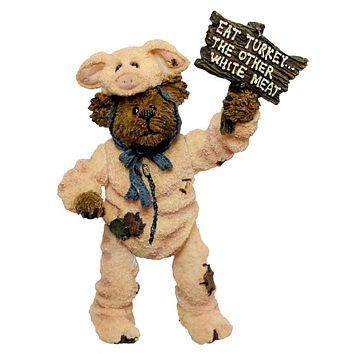 Boyds Bears Resin Pigadilly Honeyglaze Dont Pig Figurine