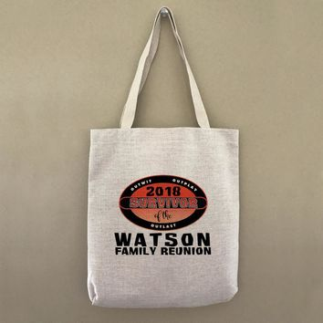 Custom Tote Bag Family Reunion Survivor Customizable Personalized Gift For Her Gift For Him Party Favor Welcome Tote Company Event Souvenir