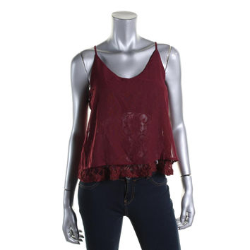 Material Girl Womens Juniors Metallic Lace Cami