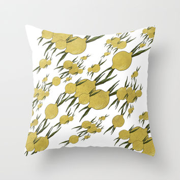 Lemons Pattern Throw Pillow by VanessaGF