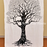 Native Purity Tree of Life Tapestry Indian Tapestry Wall Hanging Beach Sheet Art