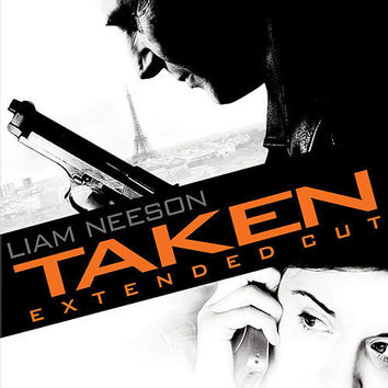 Taken Extended Cut Movie DVD 2009 Liam Neeson Includes both the Theatrical Version and The Unrated Version of the film UPC024543553526