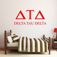 Sorority or Fraternity Name Wall Decal Graphics Dorm Room Wall Decor