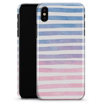 Pink to Blue WaterColor Ombre Stripes - iPhone X Clipit Case