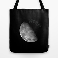 MOON Tote Bag by Wowpeer