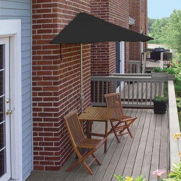 5-piece Furniture Set - Black Umbrella Canopy