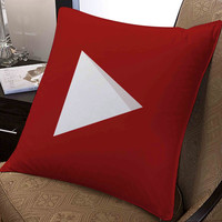 "youtube icon full colour pillow ---- pillow one and two side by  ""galaxyplatinum"","