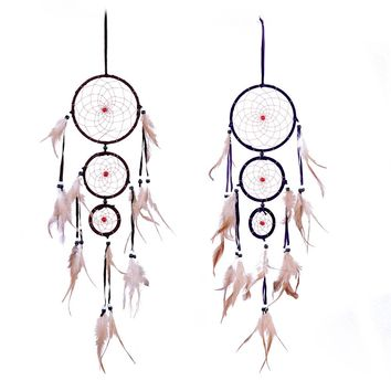 Indian Style Dream Catcher Handmade Feather Dreamcatcher Net for Home Wall Hanging Decoration Birthday Mascot Gifts