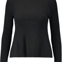 Andrea ribbed stretch-knit peplum sweater | Iris and Ink | US | THE OUTNET