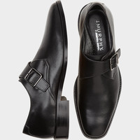 Johnston & Murphy Novick Black Monk Strap Shoes - Dress Shoes | Men's Wearhouse