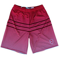 Tribe Ombre Striped Lacrosse Shorts