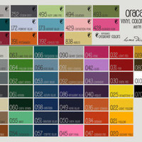 5 rolls of 12x24 Matte Oracal 631 Vinyl (Adhesive-Backed, Removable) YOU PICK COLORS
