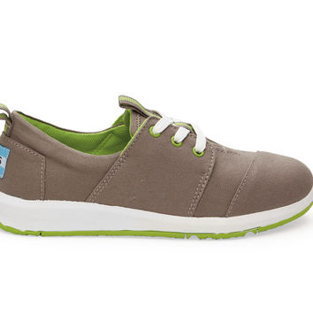 TOMS Ash Canvas Youth Del Rey Sneakers Grey