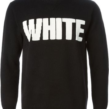 White Mountaineering intarsia knit sweater