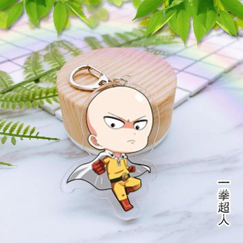 Cool Attack on Titan Anime One Punch Man Acrylic key chain My neighbor totoro  funny cute Keyring pendant Jewelry Accessory Chaveiros AT_90_11