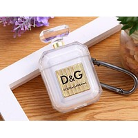 D&G GUCCI Dior LV Burberry  iPhone Airpods New Chic Headphone Case Wireless Bluetooth Headphone Silicone Protector Case Anti-Fall Protective Case(No Headphones)