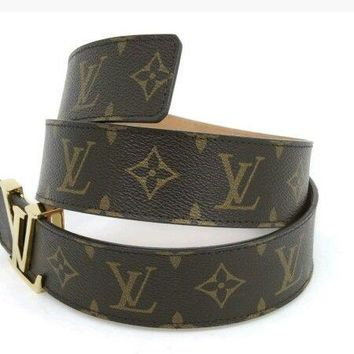 "LOUIS VUITTON PRE-ORDER MONOGRAM BELT BROWN SIZE 36""-38"" NEW AUTHENTIC"