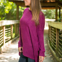 Soft And Simple Piko Top, Magenta