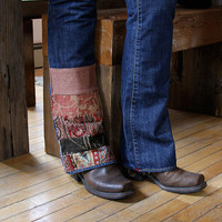 Custom Handpatched and Upcycled Jeans - let me create this look on your own jeans