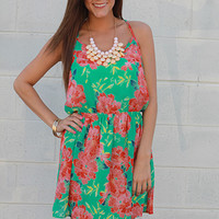 Wild Flowers Dress, green