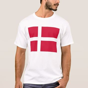 T Shirt with Flag of Denmark
