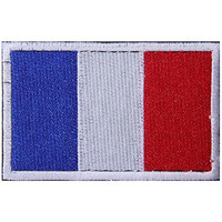France Flag Embroidered Patch Velcro For Sport Outdoor Army Baseball Hats