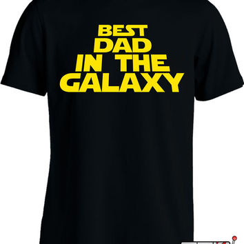 Funny Dad Shirt Daddy To Be T Shirt  Best Dad In The Galaxy Expectant Father Mens Tee MD-294